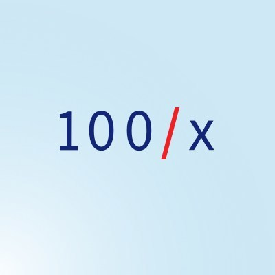 Logo (PRNewsfoto/100x Group)