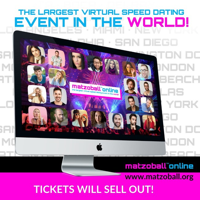 The Largest Jewish Virtual Speed Dating Event in the World