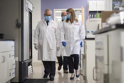 Dr. Kamel Khalili and Dr. Tricia Burdo at the Lewis Katz School of Medicine at Temple University