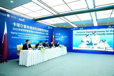 Yutong Bus proporcionará 1002autobuses durante la Copa del Mundo de 2022, gana el pedido de autobuses eléctricos más grande de la historia. (PRNewsfoto/Yutong Bus)