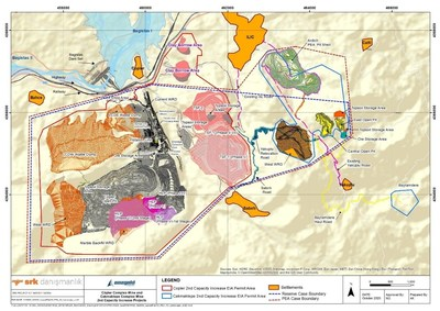 Figure 1. CDMP20 Reserve Case and PEA Case Boundaries. (CNW Group/SSR Mining Inc.)