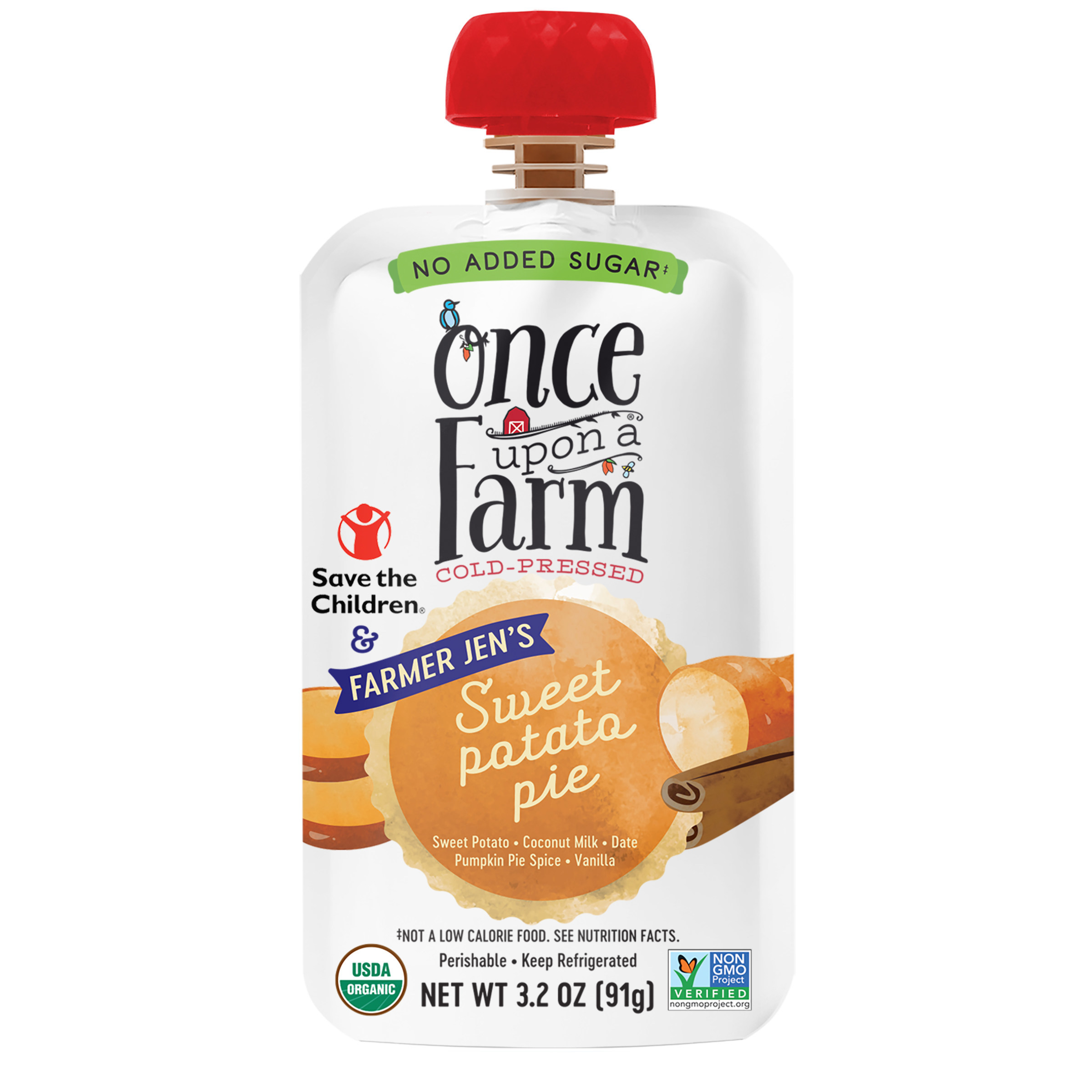 Once Upon A Farm Releases New Farmer Jen S Sweet Potato Pie Blend In Partnership With Save The Children