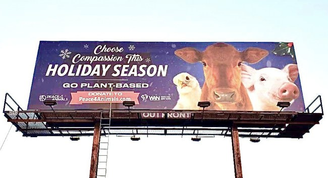 New Billboard Campaign In Los Angeles Urges People To Save Millions Of Lives This Holiday Season By Choosing Health & Compassion