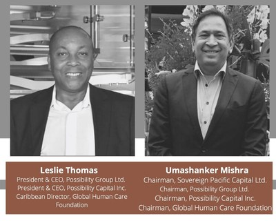 Leslie Thomas y Umashanker Mishra (CNW Group/Possibility Group Ltd.)