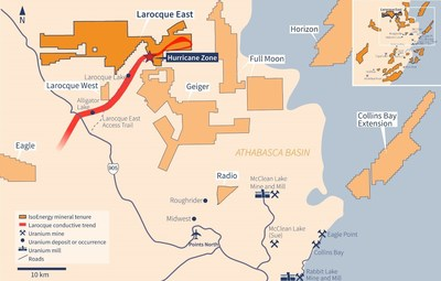 Figure 5 – Larocque East Property Map (CNW Group/IsoEnergy Ltd.)