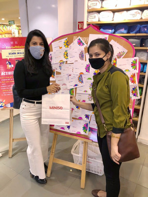 Embracing Diwali's rangoli tradition, MINISO encouraged customers to send blessings to their loved ones with colorful cards in its stores in India.