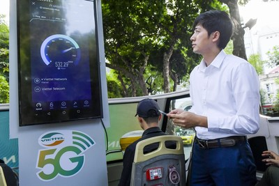 5G Speed-test in Center of Hanoi