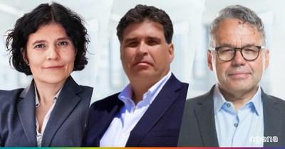(En esta foto: Maja Grätz, Miguel Rodríguez y Chris Burke)