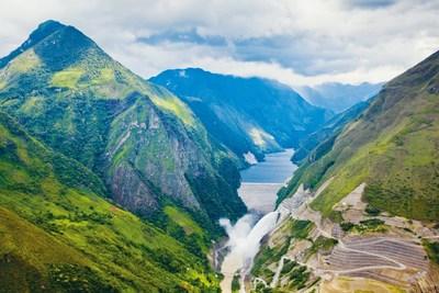 Estación hidroeléctrica de Chaglla, vista panorámica (PRNewsfoto/China Three Gorges Corporation)