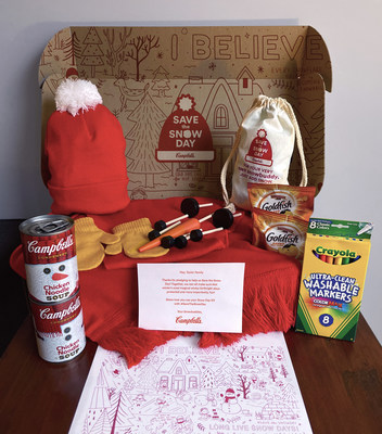 To offer a fun reprieve during this year's snow season, Campbell's is releasing free limited-edition snow day activity kits to the first 3,000 pledge signers on SavetheSnowDay.com, featuring snow day-inspired items.