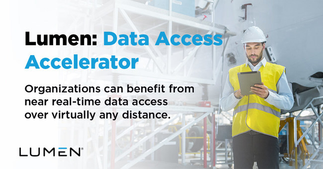 Spend less time moving files across your organization and more time gaining valuable insight from data with Lumen's Data Access Accelerator. This new solution helps improve your productivity by allowing you to access files in near-real time regardless of their location.