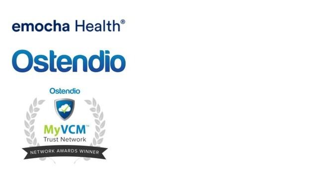emocha, Ostendio and MyVCM Trust Network Awards logos