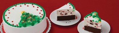 Brand new for the holidays, the Rosette Christmas Tree Cake spruces up any dessert table with rosettes of creamy, sweet icing and colorful sprinkles. Guests can customize their cake by choosing their favorite ice cream and cakes flavors at their local Baskin-Robbins or online at BaskinRobbins.com.
