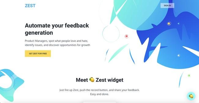 HelloZest.io Homepage