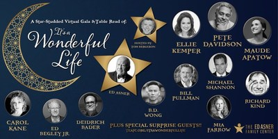 """Karolyn Grimes, the original 6 year old Zuzu Bailey featured in the motion picture """"It's a Wonderful Life """" will relive the classical holiday story as she joins Ed Asner, Pete Davidson, Ellie Kemper and a star-studded team of actors - including Mia Farrow, Maude Apatow, Carol Kane, Ed Begley Jr., Diedrich Bader, Bill Pullman, Richard Kind and BD Wong- for a one-night-only, live virtual table read of the 1946 holiday classic on Sunday, December 13, 2020, 5:00 PM (PT)"""