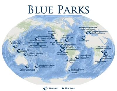 Marine Conservation Institute Global Network of Blue Parks & Blue Sparks Source: : https://marine-conservation.box.com/s/5hkepr2nzj94rmduvt2wupf1limlhfla