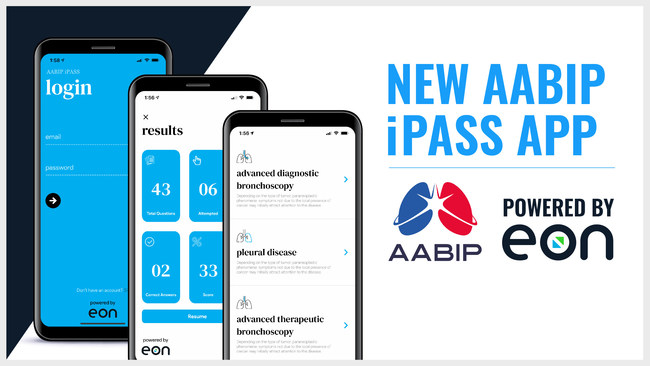 The AABIP teamed up with Eon to redesign and update the iPass app for pulmonologists studying for their board certification.