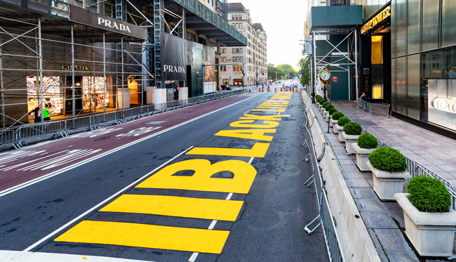 Black Lives Matter 5th avenue in Manhattan, NYC