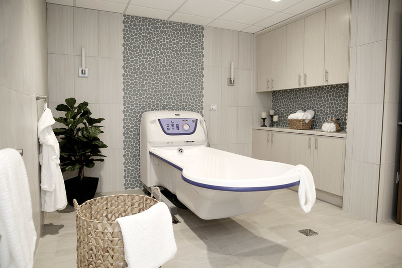 Hydrotherapy room for VITAS hospice patients at the Kendall IPU