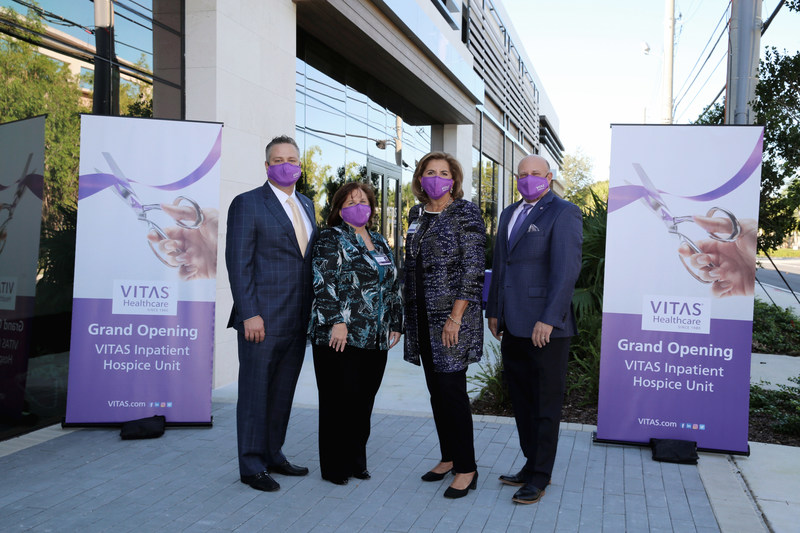 From VITAS Healthcare: President & CEO Nick Westfall, Executive VP Patty Husted, VP of Operations for South Florida Betty Bel, and Executive VP & COO Joel Wherley