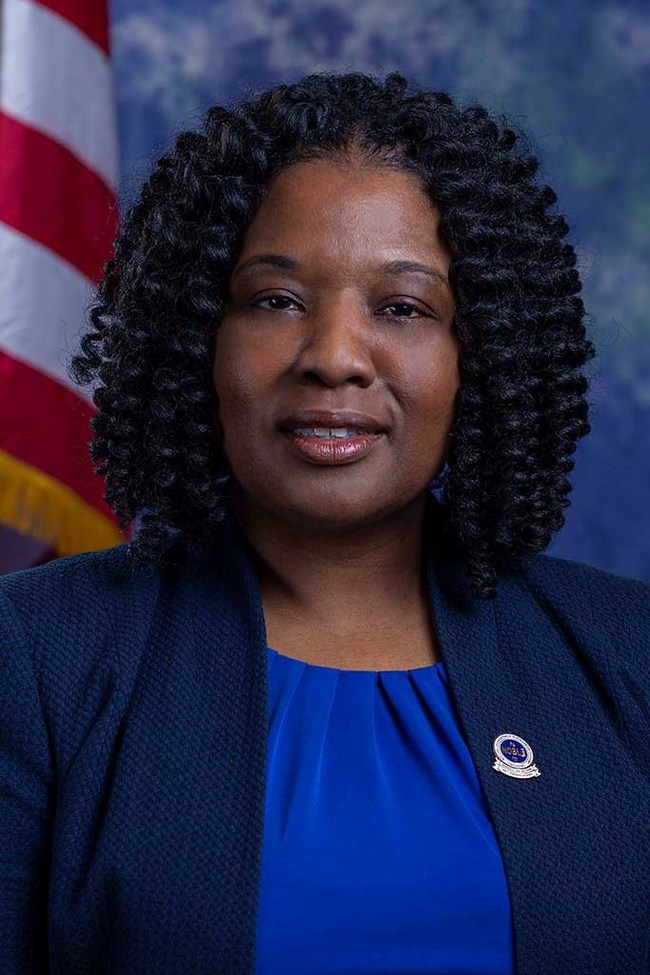 Quovella Spruill, Franklin Township PD, Executive VP of NOBLE NJ and co-chair 2020 NOBLE Annual Holiday Toy and Clothing Drive
