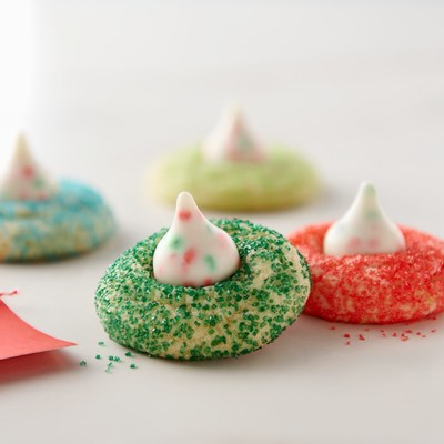 Hershey's Kisses Holiday Sugar Cookie Blossoms