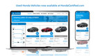 Honda Launches Pre-Owned Initiative, Adding Used-Vehicle Inventory to HondaCertified.com