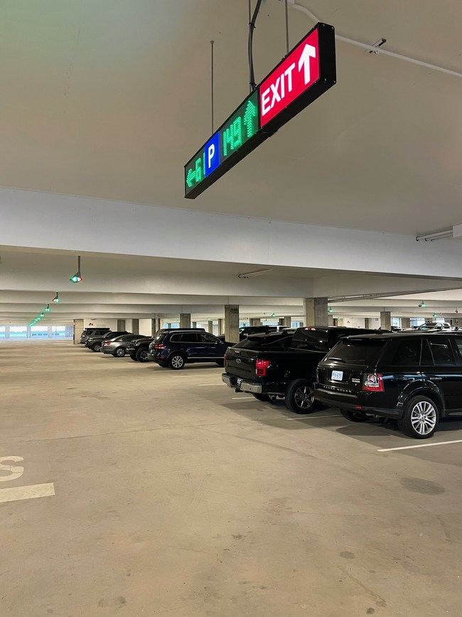 Charleston International Airport's new Daily Parking Garage is the largest parking structure in South Carolina to feature parking guidance technology.