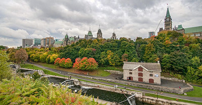 The Parliament Buildings on a fall day (CNW Group/Environment and Climate Change Canada)