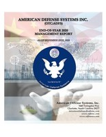 Download a full copy of the American Defense Systems Inc. EOY2020 Report, detailing the small defense contractor's financial budgets and projections for FY2021.
