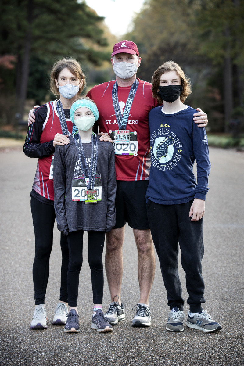 Bailey, a St. Jude Children's Research Hospital patient, and his family participate in the St. Jude Memphis Marathon Weekend Virtual Experience, which saw nearly 15,000 around the world take part.