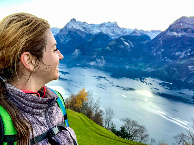 Nearly 15,000 people, including more than 4,000 St. Jude Heroes, participated in the St. Jude Memphis Marathon Weekend Virtual Experience from around the world, including in this first-time St. Jude Hero running near her residence in the Swiss Alps.