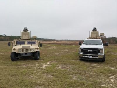 Pictured: MADS-K OTM V4 installed on an Up-Armored HMMWV & Ford F350 Platforms