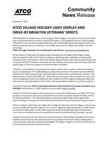 Atco村假日光线显示和推动推广的退伍军人的精神