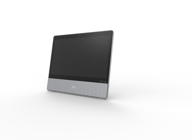 Webex Desk is competitively priced for an all-in-one device with intelligent features users want like noise cancellation, virtual backgrounds and facial recognition.