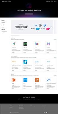 The all new Webex App Hub