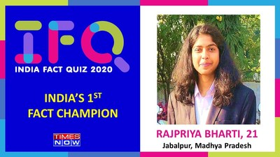 In the final episode of the India Fact Quiz 2020 national championship series, Rajpriya Bharti from Madhya Pradesh emerged as the winner of the 1st edition of the championship, beating almost half a million participants across India