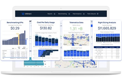 Utilimarc's BI Platform connects telematics, fleet management and fuel card data streams and delivers key metrics in customizable dashboards and tailored reporting. (PRNewsfoto/Utilimarc)