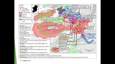 Exhibit 1. Location of Carrickittle Prospect at the Company's 100%-owned PG West Project, Ireland (CNW Group/Group Eleven Resources Corp.)