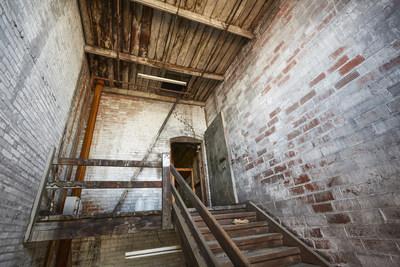 Typical predevelopment stairwell