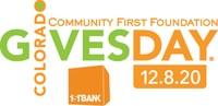 Colorado Gives Day is December 8, 2020. (PRNewsfoto/Community First Foundation)