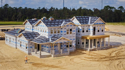 Model homes at Mattamy Homes' Island Village at Celebration community are under construction (CNW Group/Mattamy Homes Limited)