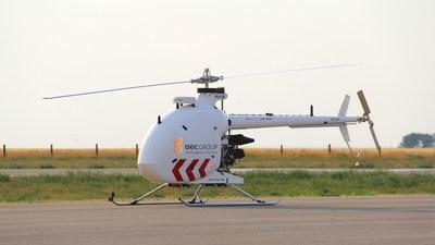 Drone Delivery Canada's Condor Drone with OEC's logo (CNW Group/Drone Delivery Canada)