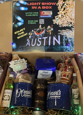 Famed Mozart's of Austin, Texas' lakeside light show spectacular is now coming to living rooms nationwide, as a last-minute gift for a joyous and safe home holiday experience. Voted