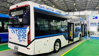 Autobús urbano con pila de combustible de 10.5 metros, Serie 9 de Sunwin. (PRNewsfoto/Shanghai Sunwin Bus Corporation)