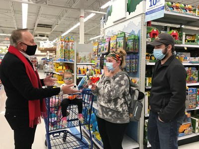 Doug Meijer surprises the Meara Family with a $1,000 shopping spree as part of the retailer's annual Very Merry Meijer event.