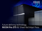 Commercial printers preview the RICOH Pro Z75 B2 sheet-fed inkjet press designed to enable business growth