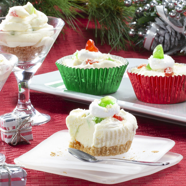 To help celebrate the holidays safely, offer single-serve, individually portioned foods like these deliciously fun and creative Mini White Chocolate Mousse Cups.
