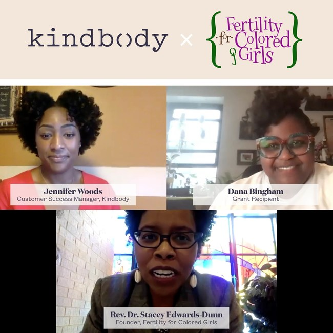 Kindbody, in partnership with Fertility for Colored Girls, notifies one of the $50,000 fertility grant recipients