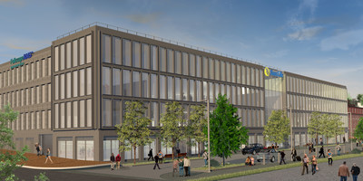 Computerized rendering of Sun Life U.S. and FullscopeRMS. offices in Portland.